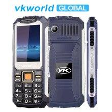 VKWorld Taş V3S Su Geçirmez Toz Geçirmez MobilePhone 2.4 inç Anti-Düşük Sıcaklık 2200 mAh Uzun Bekleme Çift LED FM Radyo telefon...