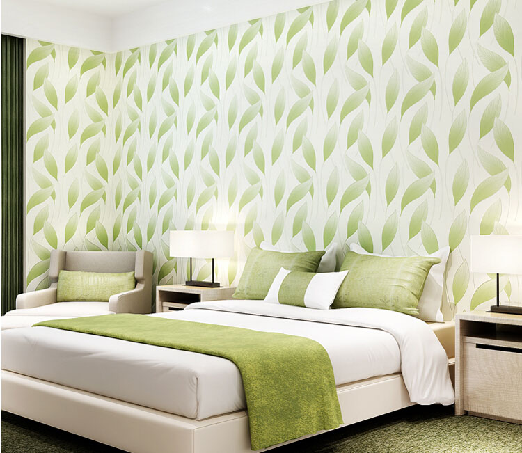 Aliexpress com Buy China Wholesale Modern Leaf Wallpaper Simple Elegant  Living Rooms Decorative 3D Wallpapers Bedroom. Wall Papers For Rooms   jobs4education com