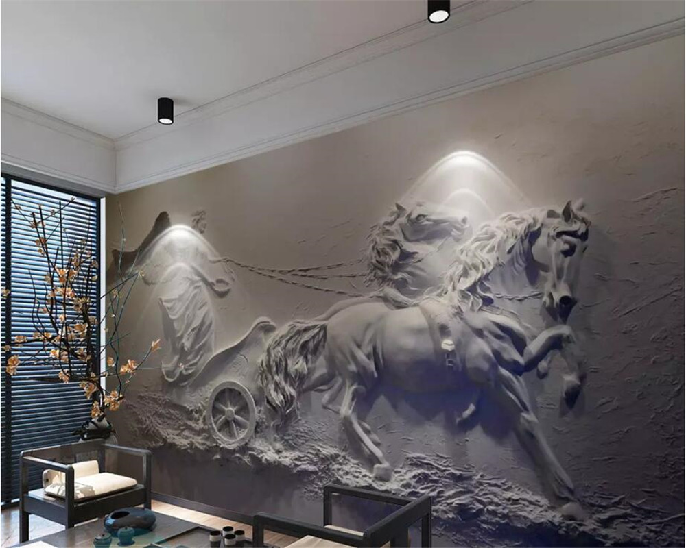 Beibehang Custom Photo Wall Mural 3d Wallpaper Luxury: Beibehang Custom Wallpaper 3d Photo Murals Angel Carriage