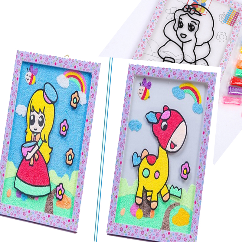 Для детей Игрушки для рисования песка картины снег жемчужина грязь рисунок DIY ремесла Книги по искусству Doodle Pad Живопись карты дошкольного о... ...