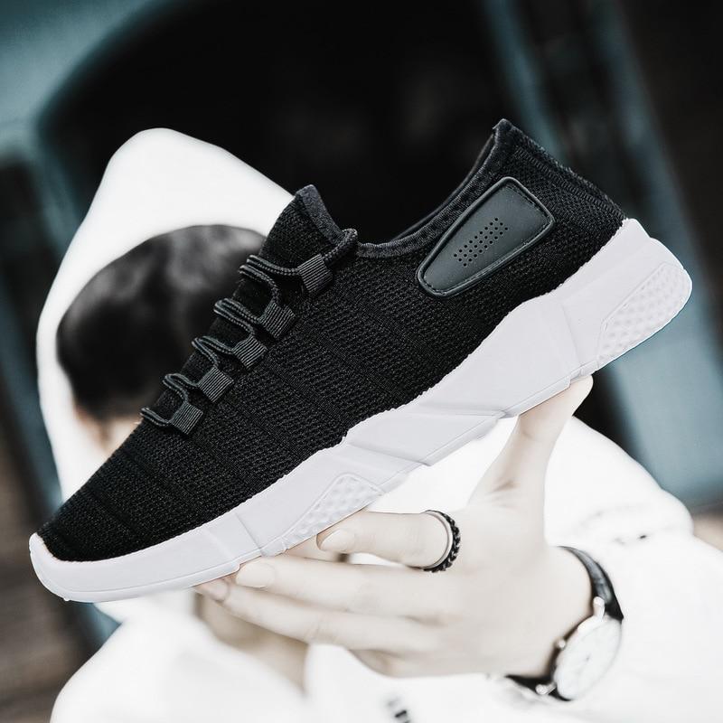white Hombres Zapatos Zapatillas Adultos Malla 2018 Entrenadores Masculinos Transpirable Caminando Negro Hasta gray Casuales Hombre Encaje Nuevo Otoño 4wRadqWn4r