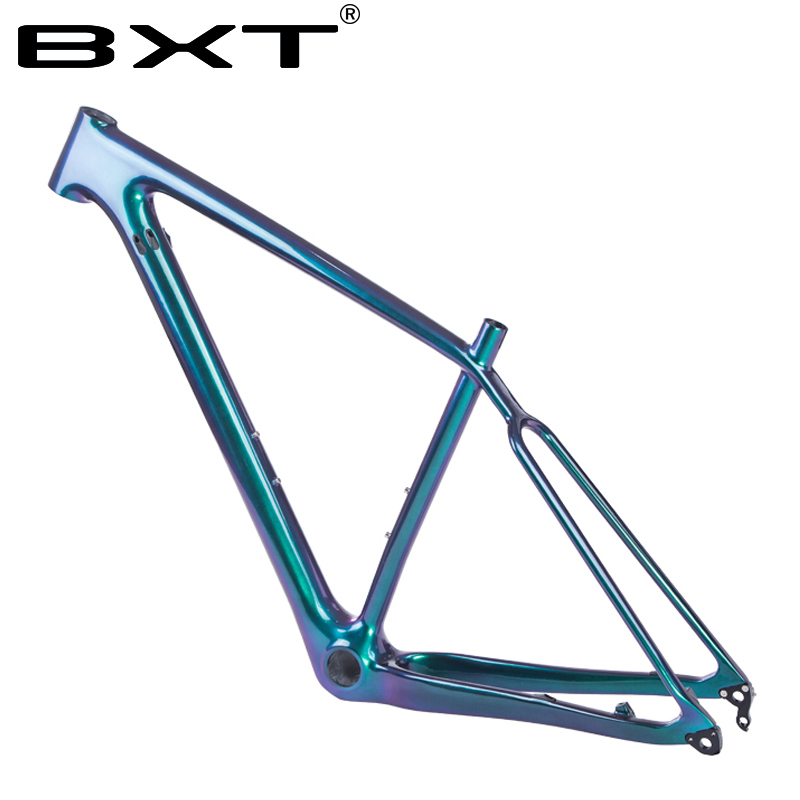 BXT T800 Carbon mountain Frame 29er Chameleon Full Carbon fiber frameset MTB 29 disc brake 1-1/8 to 1-1/2 frames вилка велосипедная rockshox 30g 29 29 29er mtb 1 1 8 100 er 30g tk