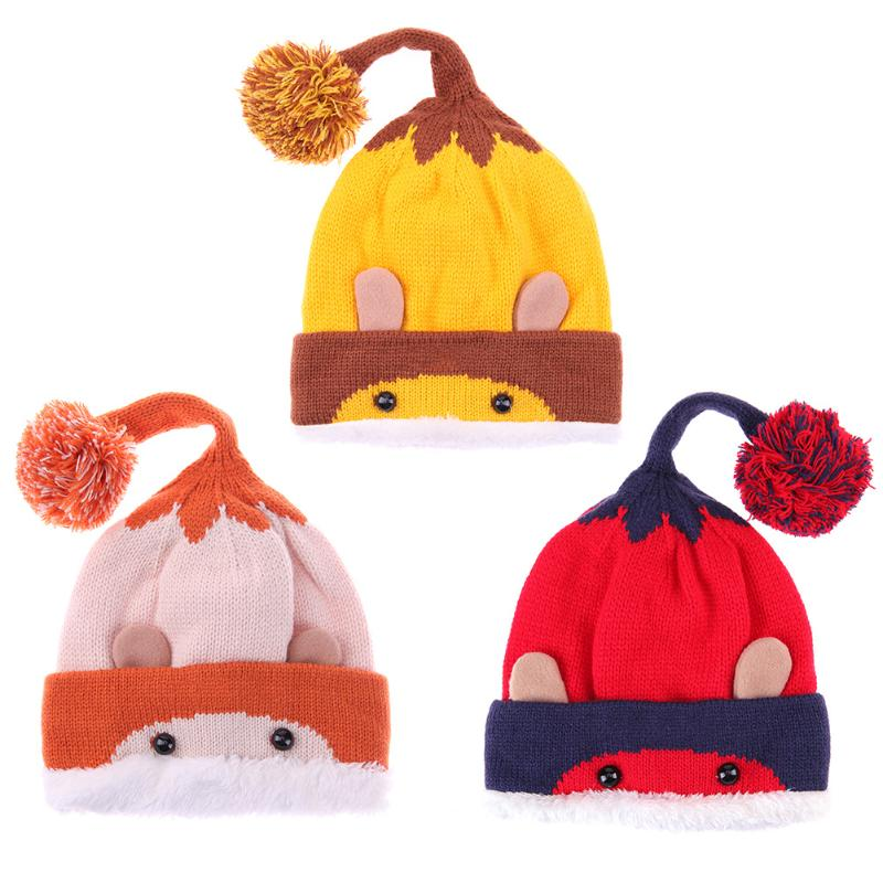 Autumn Winter Baby Hats Kids Cute Cartoon Hat Beanie Cap Hats for Girls Boys Knitted Baby Hat Photography Photo Props