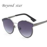 Beyond Star Fashion 2017 Sunglasses Women Cat Eye Brand Designer UV400 Sun Glasses Coating Printed Sunglasses