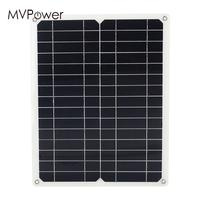 Solar Panel Monocrystalline Silicon Durable Outdoor Solar Cell 12V 15W Battery Charger Solar Charger Pane Energy Saving USB