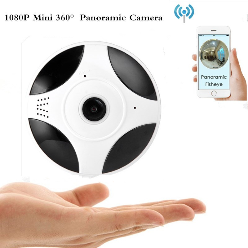 360HD Security Mini VR Camera WIFI panoramic Fisheye Home Security Surveillance 1080P IP ...