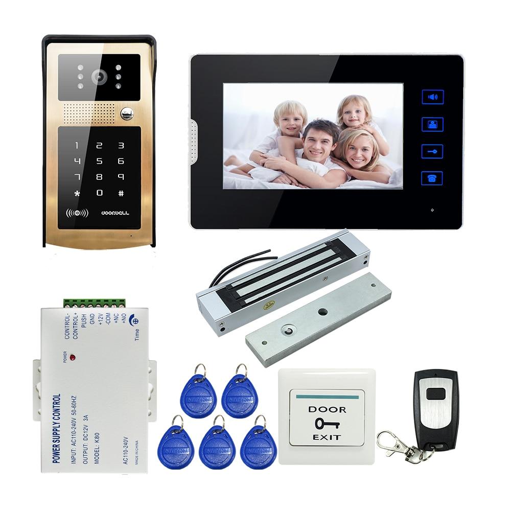 FREE SHIPPING 7 Touch Monitor Video font b Door b font Phone Intercom System Metal Waterproof
