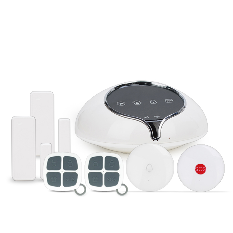 App control 3G WCDMA alarm system for home security & 3G security burglar alarm system with doorBell/ SOS emergency button
