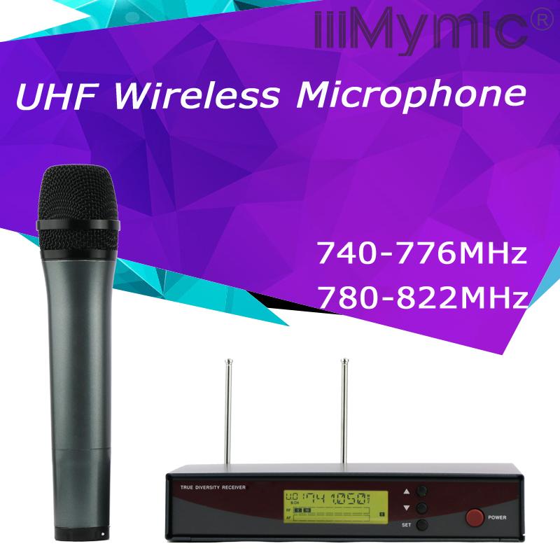 Prix pour Top Qualité! professionnel UHF Sans Fil Microphone En Métal Unique de Poche Micro Système Microfono Pour Voix Discours Karaoké