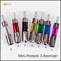 7 Cores Barato Mini-protank 3 Atomizador 2.0 ml Rebuilable Pirex de Vidro de Bobina Dupla Clearomizer para Todas As Séries Ego Bateria Jomo-95