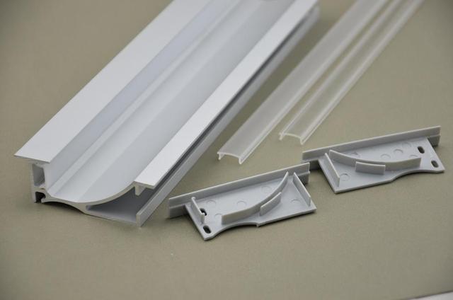 aluminium profile suspended ceiling edge led strip light. Black Bedroom Furniture Sets. Home Design Ideas