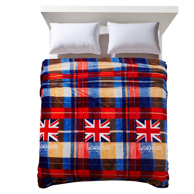 British Flag Blanket Manta Coral Fleece Blankets Throws On Sofa/Bed/Plaids  Limited Battaniye