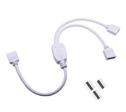 5pin коннектор RGBW HUB 1-2 3 4 порта, разветвитель, гнездовой удлинитель, кабель для SMD 5050 RGBW RGBWW, Светодиодная лента с 5 контактами