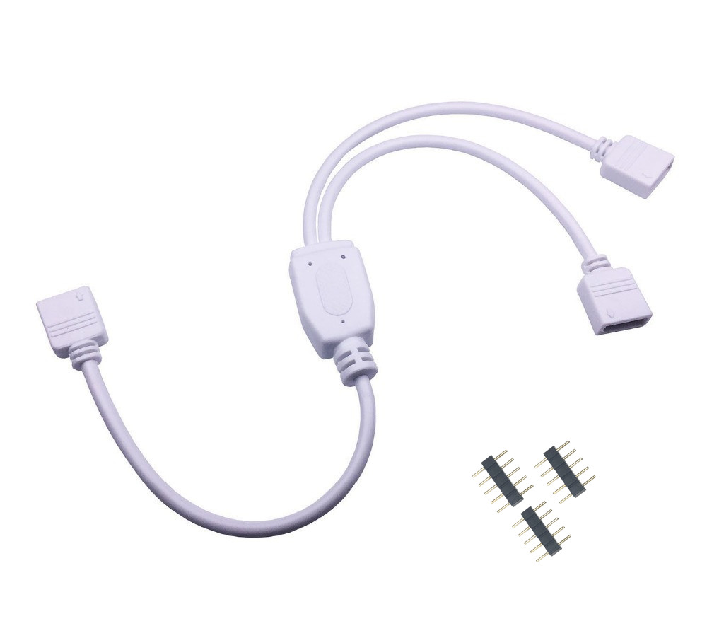 5pin RGBW <font><b>Connector</b></font> HUB 1 to <font><b>2</b></font> 3 4 Port Splitter Female Extension Wire Cable For SMD 5050 RGBW RGBWW <font><b>LED</b></font> <font><b>Strip</b></font> with 5 <font><b>Pin</b></font> Plugs image
