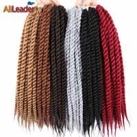Alileader 12 18 22 Pollici Crochet Trecce Estensioni Dei Capelli Havana Mambo Pre Torsione Dei Capelli 12 Root/Pacchetto Treccia Sintetica capelli Per Le Donne