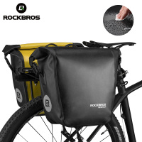 ROCKBROS 2 In 1 Waterproof Bicycle Bag 18L Portable Pannier Rear Rack Tail Seat MT Bike Bag Trunk Pack Cycling Bike Accessories