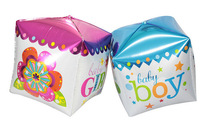 New Arrival Square Cube Gift Shaped Happy Birthday Foil Balloons Party Decoration Balloon for Boy Girl Baby Shower Toys