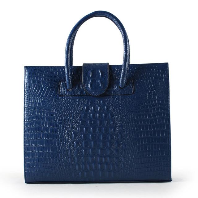 2017 New Women Handbag Fashion Black Handbags Women Ladies Crocodile Pattern PU Genuine Leather Shoulder Bags