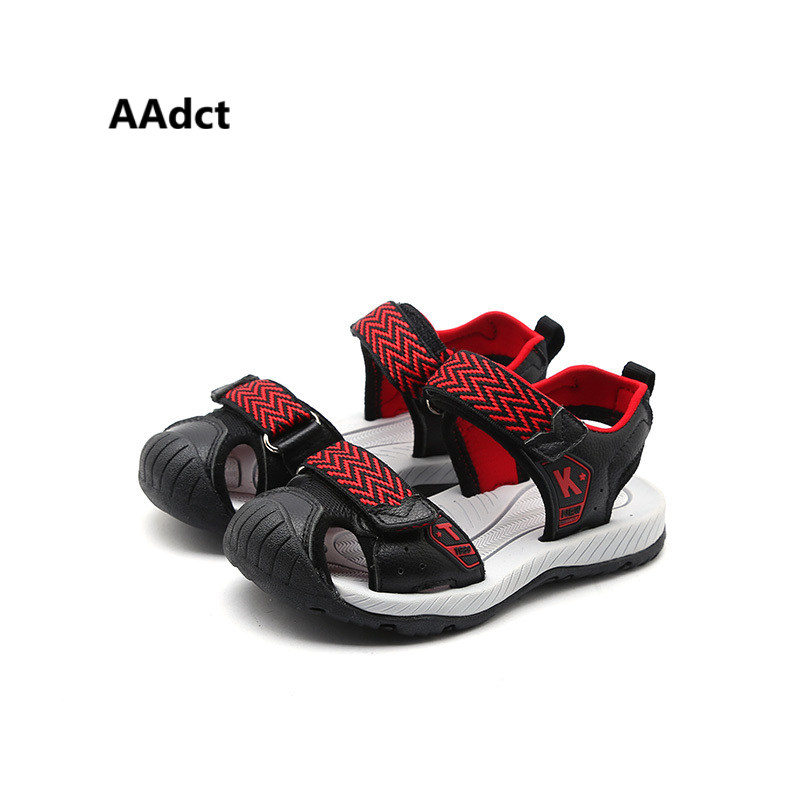 AAdct 2018 summer new boys sandals Anti kick toe casual children shoes Woven kids sandals for boys Brand High-quality