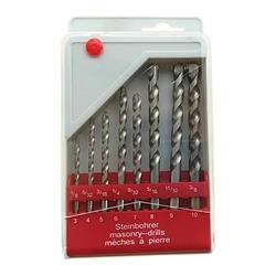 Поворотный кладки сверла 5/8 шт. 4-10 мм оцинкованная сверла Круглый хвостовик Спираль Флейта для сверление бетона, кирпича плитка