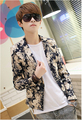 Free shipping Korean version of the men's suits Floral Slim small suit jacket  L-3XL