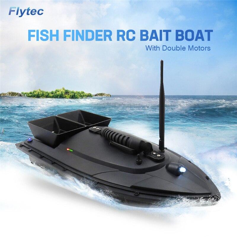 Flytec 2011-5 Électrique De Pêche Appât RC Bateau 500 M À Distance détecteur de poissons 5.4 km/h Double Moteur Jouets