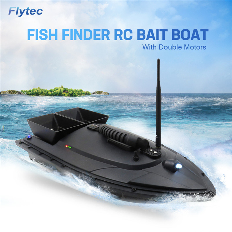 Flytec 2011-5 Electric Fishing Bait RC Boat 500M Remote Fish Finder 5.4km/h Double Motor Toys
