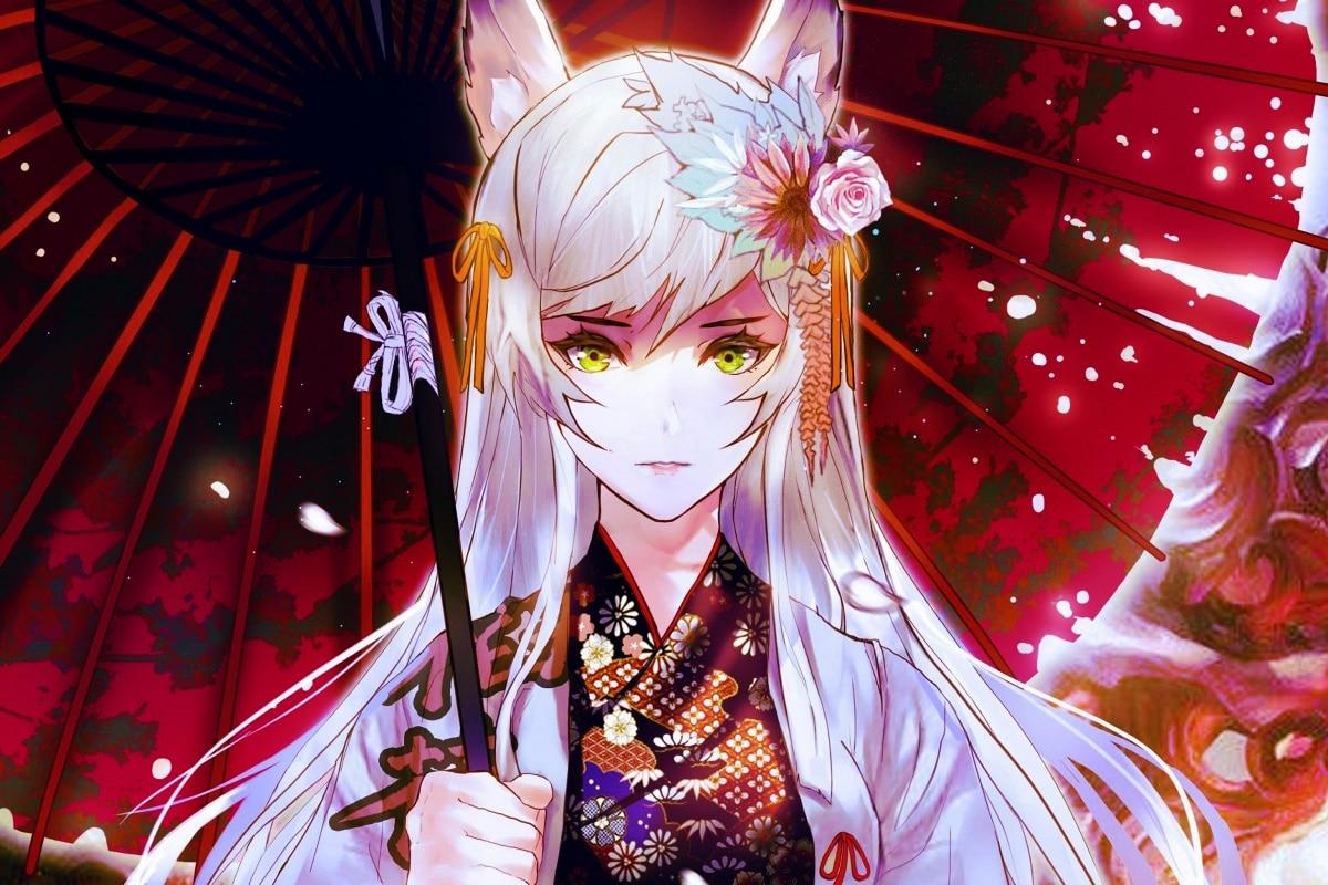Девушки в кимоно аниме