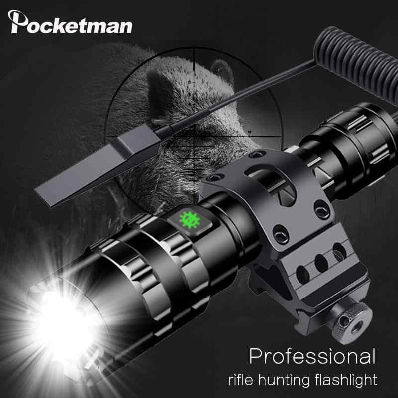 Hellsten Tactical LED Taschenlampe Ultra Helle L2 Jagd licht USB Aufladbare Wasserdichte taschenlampe 5 Modi durch 1*18650