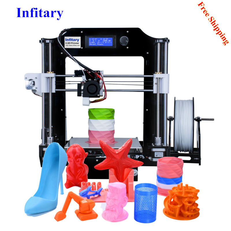 Infitary impresora 3D Kits 2017 Newest Upgrated Printer Large Size 3d Printer With 80M PLA filaments High Quality infitary m608 3d printer large printing size imprimante 3d high precise 3d printer kit with 8gb sd card