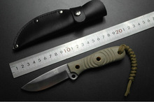 D32 steel high hardness 60HRC Leggings knife Outdoor survival training practical tactical knife Not collapsible Sharp white