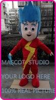 mascot speed light boy kid mascot costume custom cartoon character cosplay fancy dress mascotte theme
