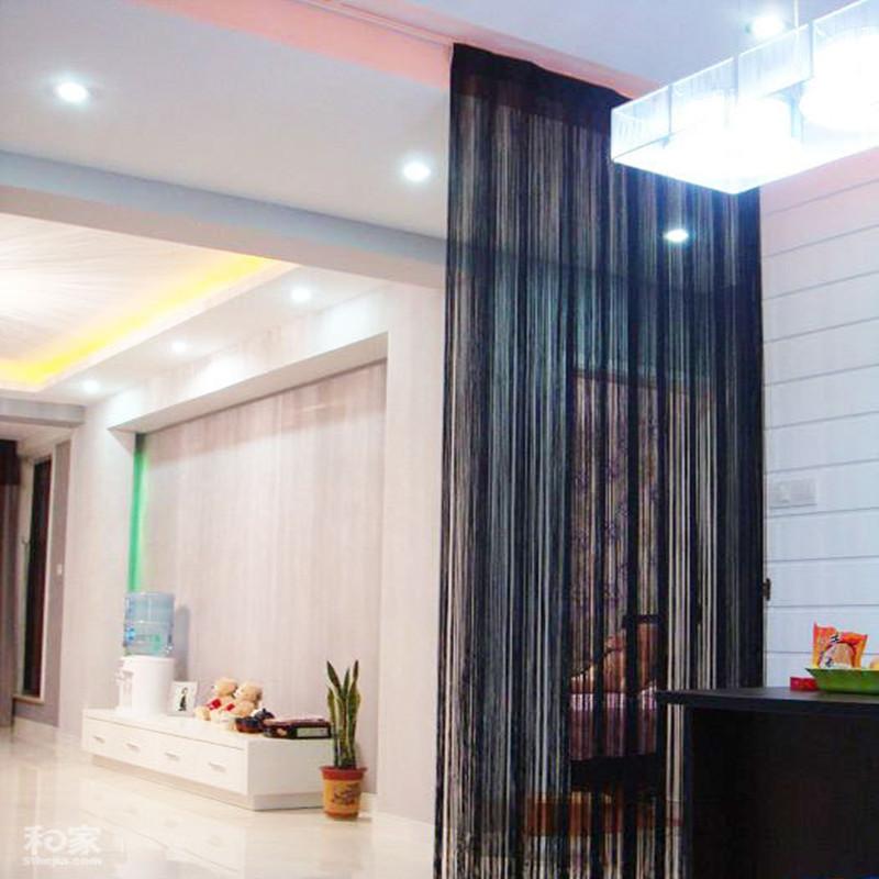 negro decorativo cortina de ventana cortina de la secuencia del estilo