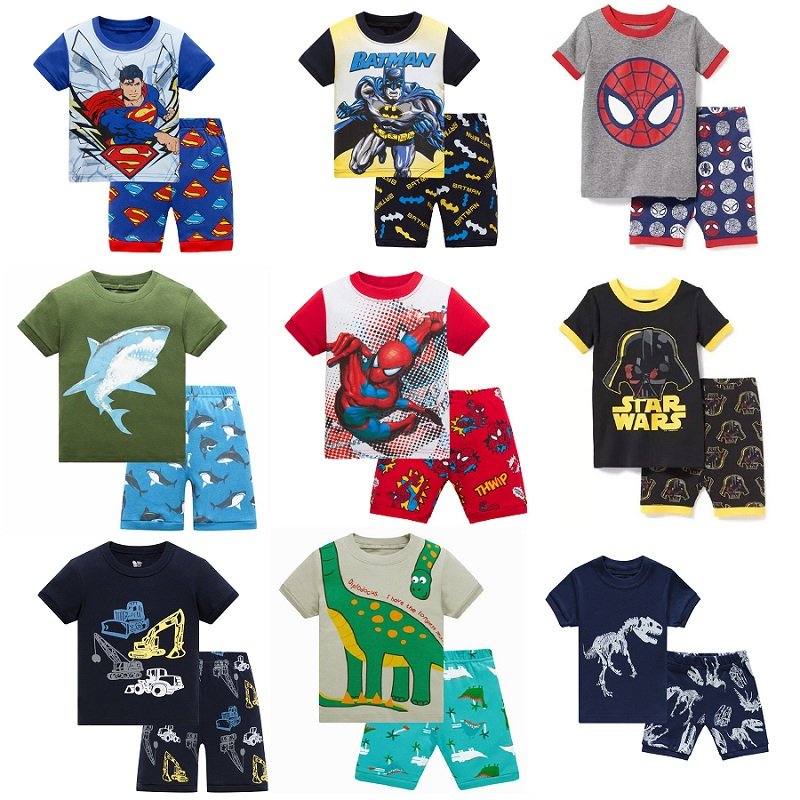 2019 Hot Summer Kids   Pajamas   Baby Boys Clothing Cartoon Costume Short Sleeve Pijamas children Sleepwear   Pajamas     Sets