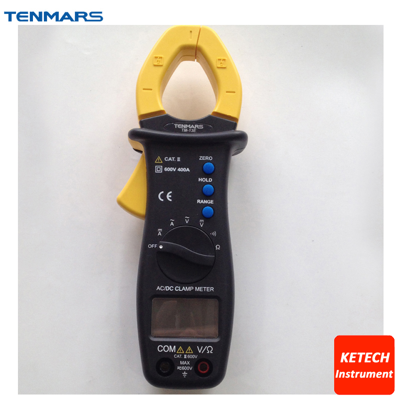 TM13E Data Hold and Range Hold Auto Zero 400A Autoranging AC/DC Clamp Meter tm2011 data hold peak hold min max autoranging handheld ac digital clip on table tester clamp meter