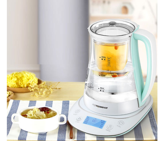 Birds nest crock stewing health pot full automatic thickening glass stew flower 1.5L 304 stainless steel mesh 24h appointmentBirds nest crock stewing health pot full automatic thickening glass stew flower 1.5L 304 stainless steel mesh 24h appointment