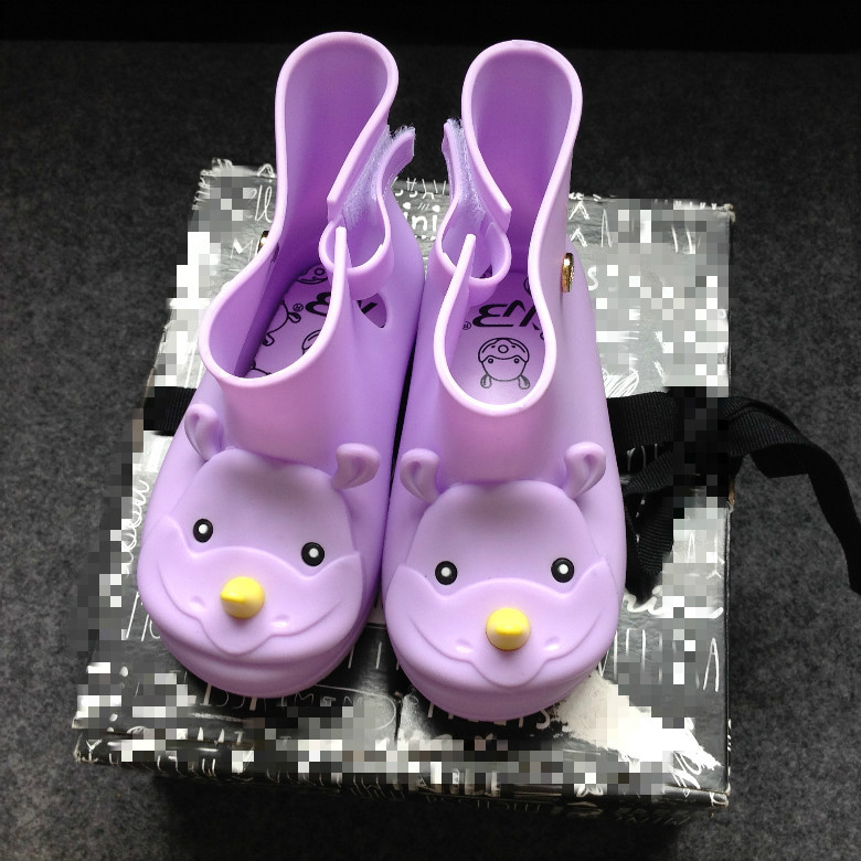 cream smell Baby Kids Rain Boots Rhinoceros shoes Girls Children Rain Shoes Waterproof Child Rubber Boots jelly Sapato
