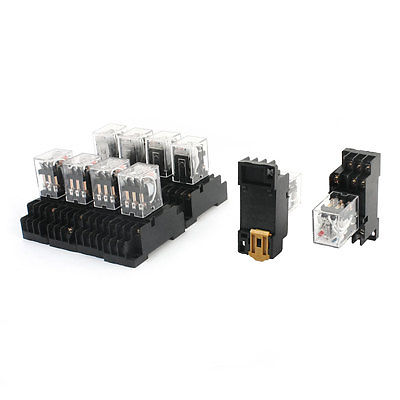 10 Pcs AC 110V Coil Voltage 3PDT Plug in General Purpose Power Relay Free Shipping цены
