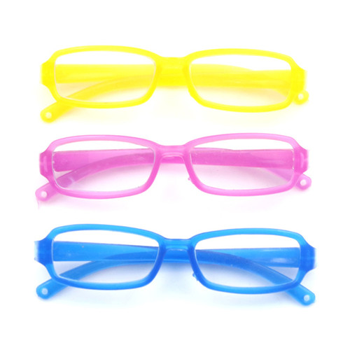 1pcs Fashion Cool <font><b>Glasses</b></font> Square-shaped DIY <font><b>Glasses</b></font> For 1 / 6 <font><b>BJD</b></font> Blyth Doll Accessories image