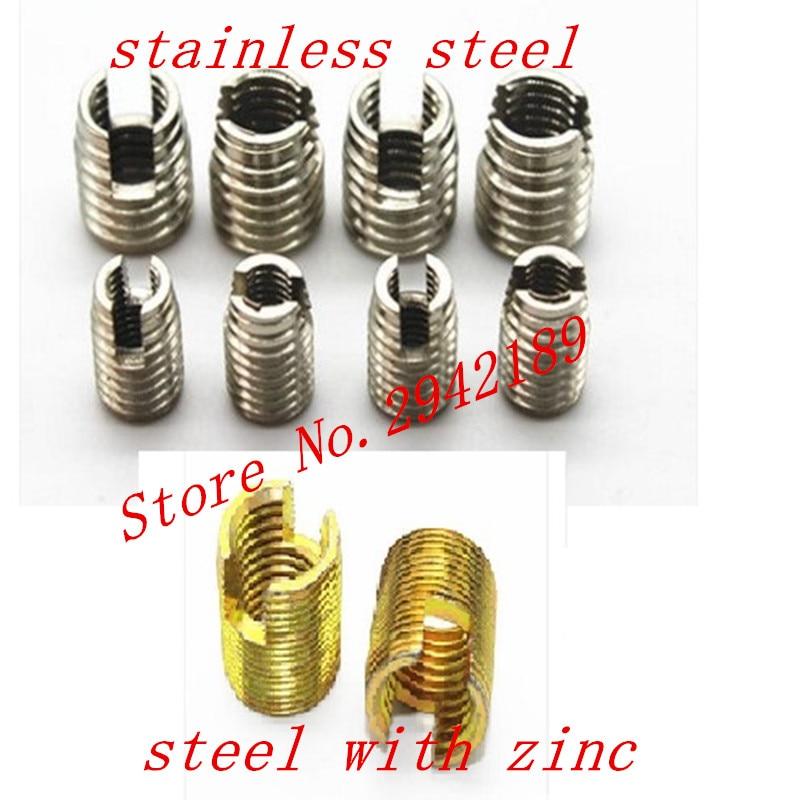M2 M2.5 M3 M4 M5 M6 M8 M10 inserción de rosca autorroscante tornillo casquillo 302 ranurado tipo rosca de cable reparación insertar Máquina de grabado de modelos de enrutador de madera multifunción de aluminio Placa de inserción
