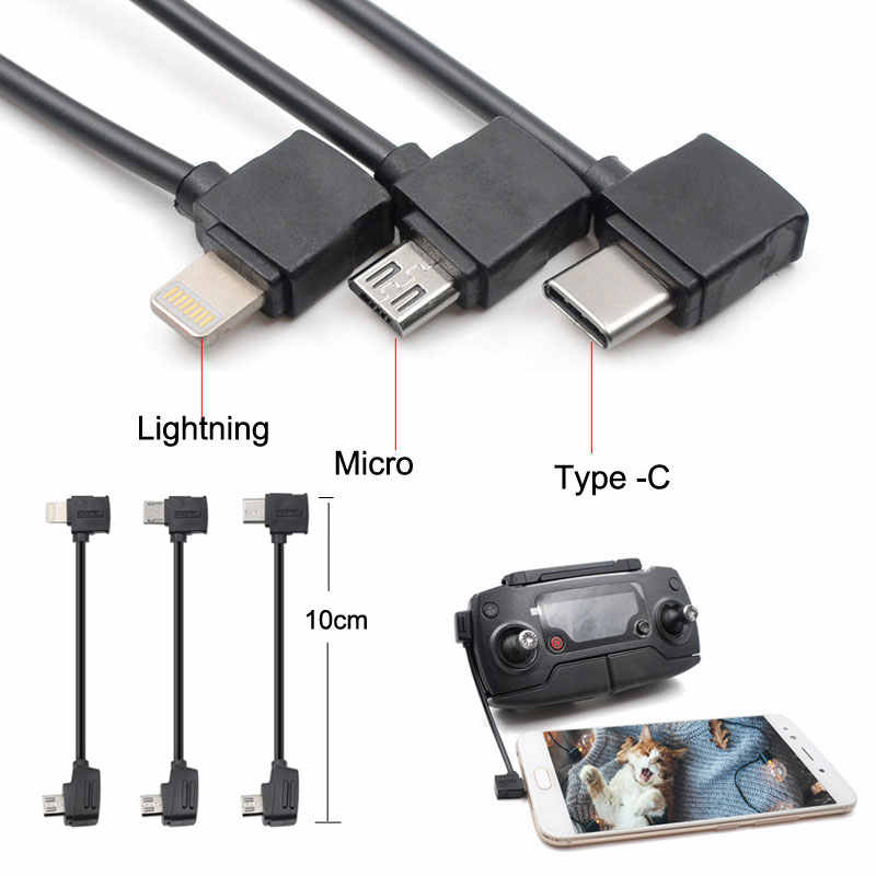 DJI Mavic pro Control 10cm Micro USB Type-c IOS Android OTG Data Cable Line For DJI Mavic pro /air / iPhone Table