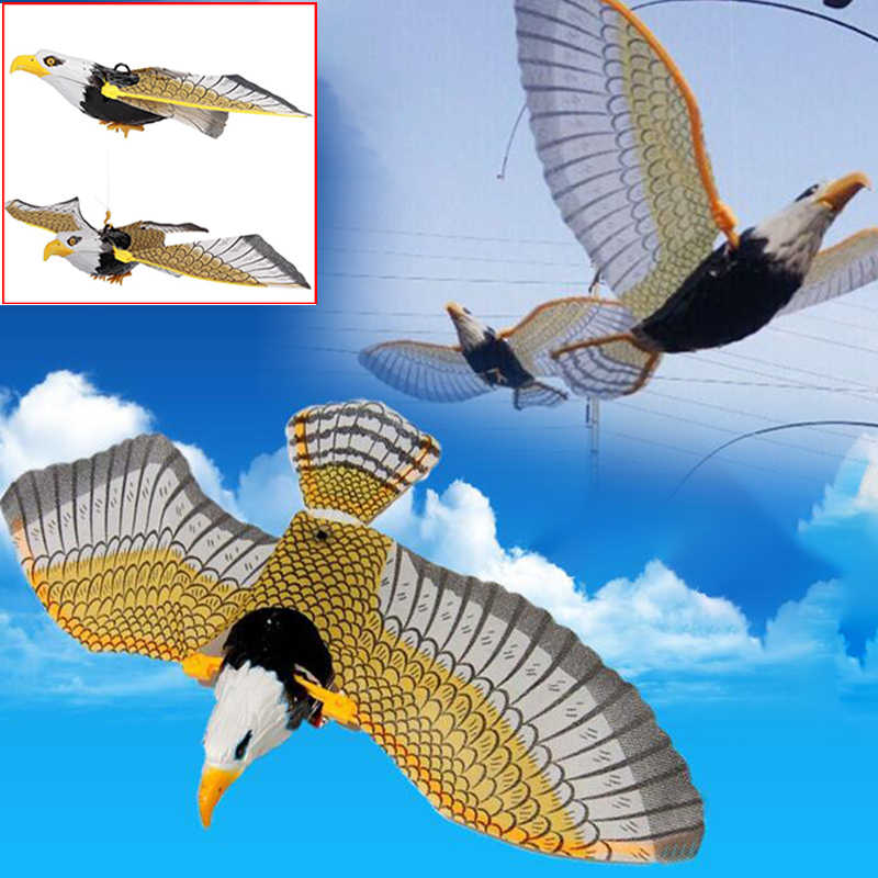 Electric Flying Birds Toy Hanging Wire Flapping Eagle Plastic Kids Chrismas Birthday Toy