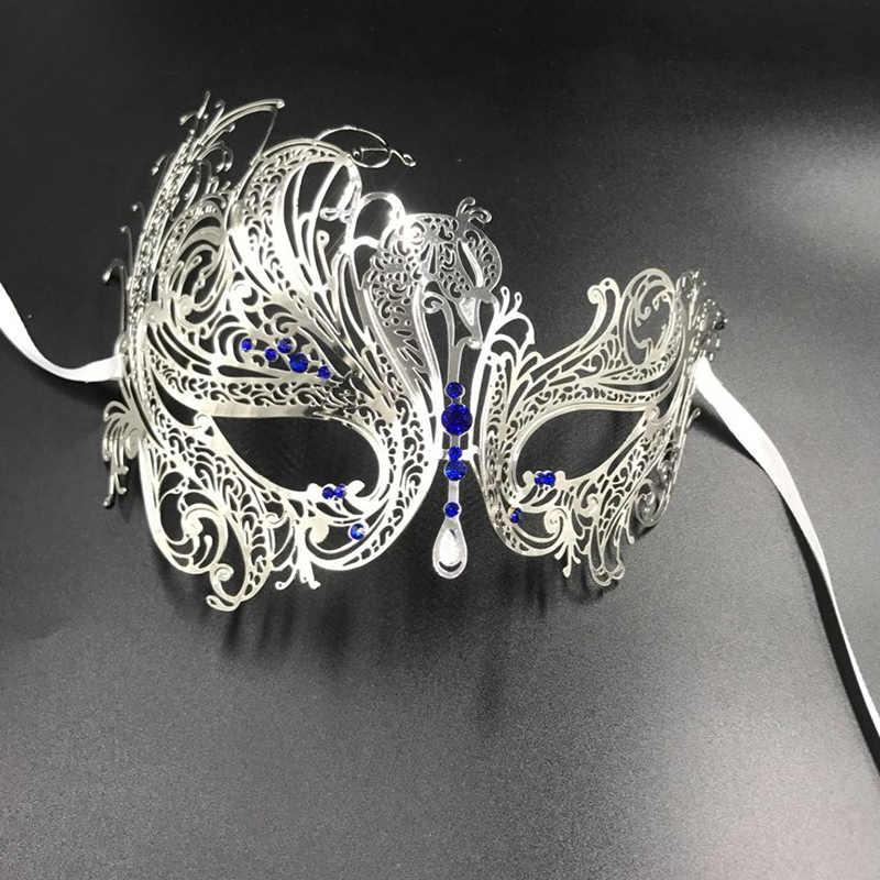 0c6d8f1dc7 Women Gold Phantom Metal Laser cut Swan Venetian Masquerade Party Mask  Silver Red Clear Rhinestones BALL Costume Wedding Masks