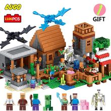 Фотография Qunlong Toys My Village My World Blocks Building DIY Model 1106pcs Bricks Educational Toys For Kids Gifts Compatible Legoed