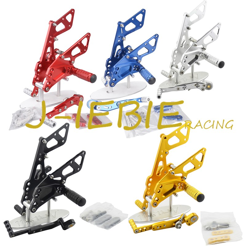 CNC Racing Rearset Adjustable Rear Sets Foot pegs Fit For Suzuki GSXR 600 750 GSXR600 GSXR750 2011 2012 2013 2014 2015 2016 adjustable rider rear sets rearset footrest foot rest pegs gold for suzuki gsxr600 gsxr750 gsxr 600 750 2011 2012 2013 2014 2015