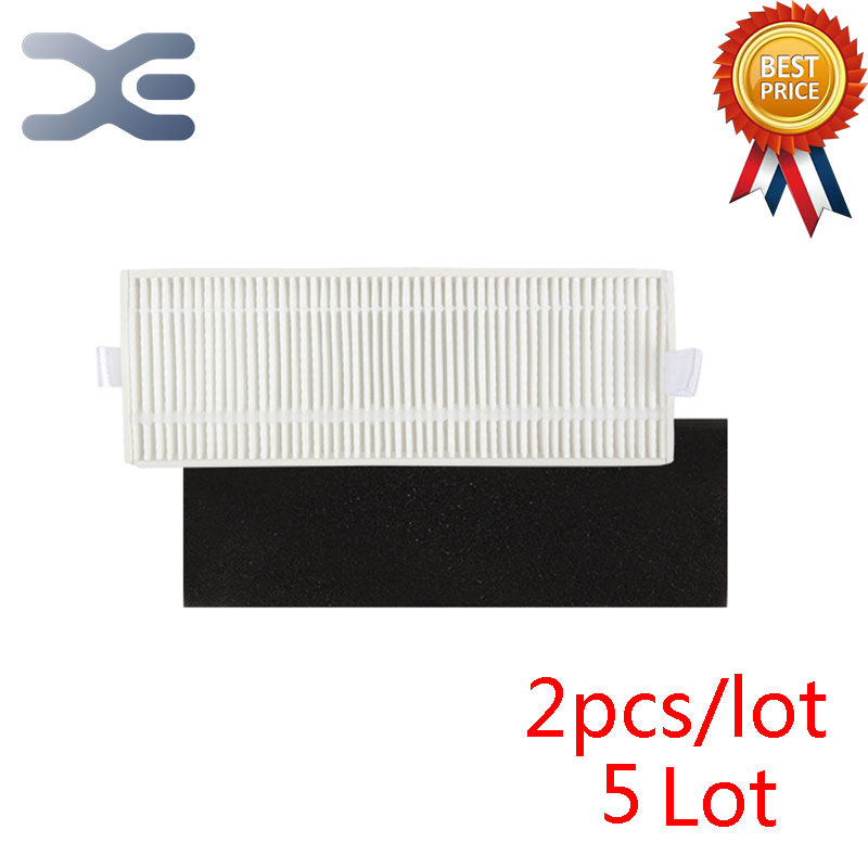 5 Lot High Quality Vacuum Cleaner Parts Sweeping Machine Accessories Ecovacs DT85 DT83 Hepa Filter Cotton