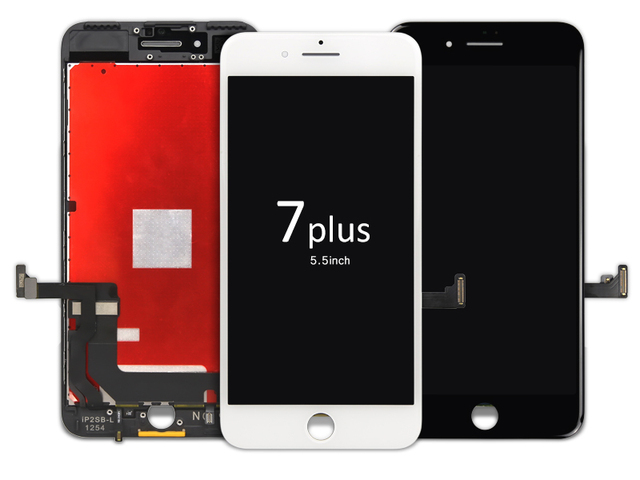 2pcs 1000% original No Dead Pixel For iPhone 7 Plus LCD Display With Touch Screen Digitizer Assembly Black&White