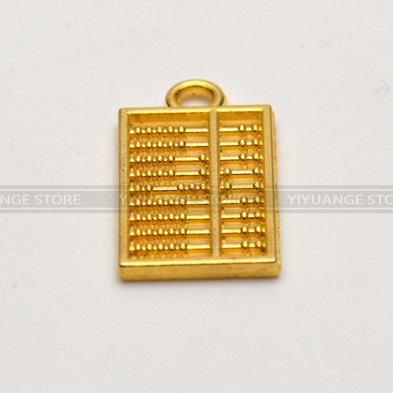 Chinese Fengshui Abacus Golden Pocket Abacus Bead Arithmetics Metal Keychain Aotomotive Keyring Ring Key Fob