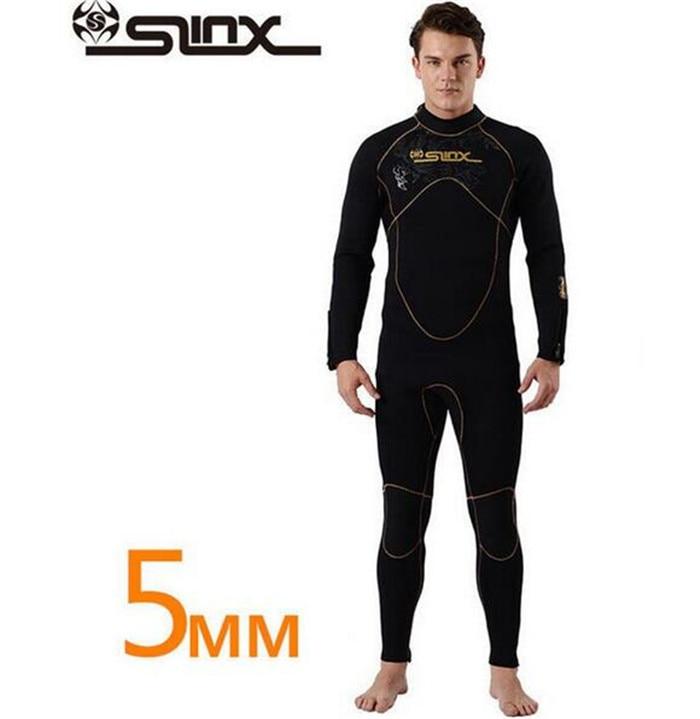 SLINX Men Women 5mm Neoprene Women Scuba Diving Suit Swimming Windsurfing Snorkeling Spearfishing Fleece Lining Warm Wetsuit