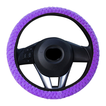 Braid On The Steering Wheel Cover On The Steering Wheel Cover For Women Car Decoration Steering-Wheel Of Auto Car Accessories image
